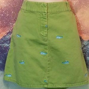 J. Crew Whale Print Skirt